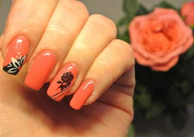 Nagelstyle - red rose